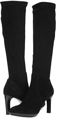 Aquatalia Rhumba II (Black Stretch Suede) Women's Shoes