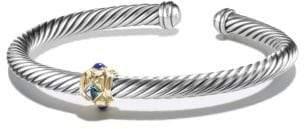 David Yurman Renaissance Bracelet With Blue Topaz, Lapis Lazuli And