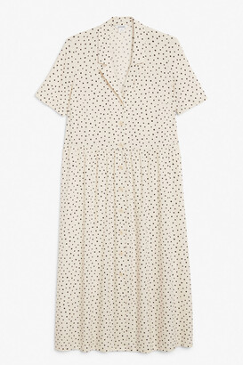 Monki Midi button-up shirt dress