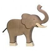 Holztiger Large Wooden Elephant Figurine