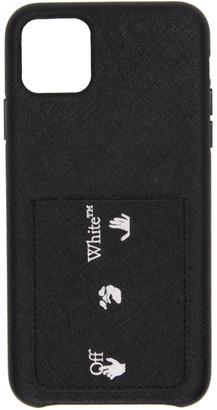 Off-White Black Saffiano Logo iPhone 11 Pro Max Case