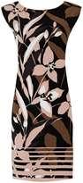 Khaki Floral Tunic Dress