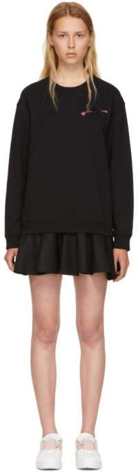 Valentino Black Beaded Heart Dress