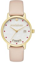 Kate Spade Women's Metro Resolution Leather Band Watch, 34Mm