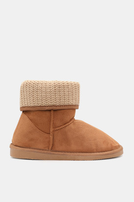 Ardene Faux Suede Folded Booties - Shoes |