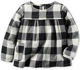 Carter's Black & White Check Top, Toddler Girls (2T-5T)