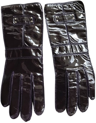 Givenchy Purple Patent leather Gloves