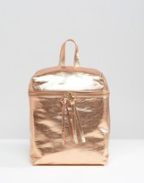 Missguided Metallic Backpack