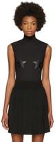 Givenchy Black Tulle Stars Bodysuit
