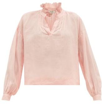 Sea Lucy Ruffled Ramie Blouse - Womens - Pink