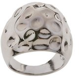 Sterling Silver Domed Ring with Divets