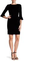 Donna Morgan 3/4 Bell Sleeve Velvet Dress