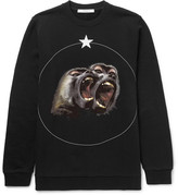 Givenchy Monkey Brothers Cuban-Fit Printed Fleece-Back Cotton-Jersey Sweatshirt