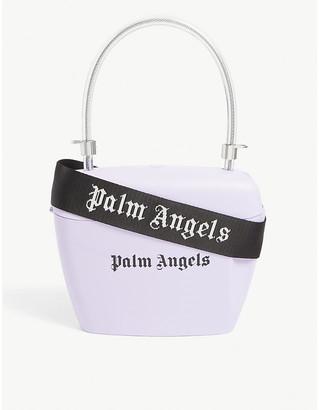 Palm Angels Logo-print vinyl padlock bag