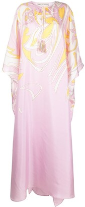 Emilio Pucci Dinamica printed kaftan-style silk dress