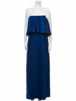 Thumbnail for your product : Halston Strapless Long Dress Blue
