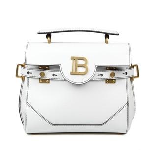 Balmain Bbuzz 23 Bag In White Leather