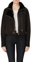 J Brand Camilla Shearling Jacket In Black