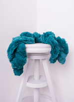 Missy Empire Alina Teal Twisted Fluffy Scarf