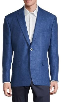 Robert Graham Tailored-Fit Linen Wool Blazer