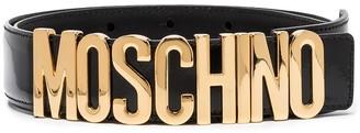 Moschino Logo-Plaque Buckled Belt
