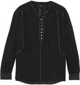 Isabel Marant Alivia embellished silk-georgette blouse