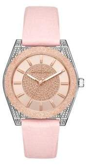 Michael Kors Channing 3-Hand Stainless Steel & Silicone-Strap Watch