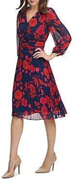 Karl Lagerfeld Paris Floral Print Chiffon Dress