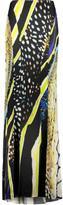 Roberto Cavalli Printed silk-blend maxi skirt