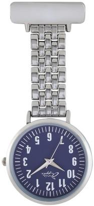 Bermuda Watch Company Annie Apple Blue/Silver Nurse Fob Watch