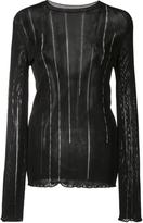 Nina Ricci chain detail top - women - Viscose - M