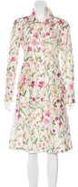 Valentino Floral Long-Line Trench Coat