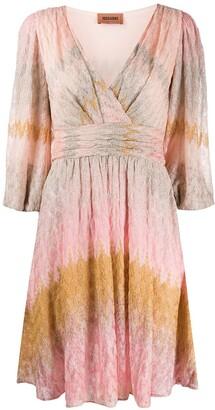Missoni Wrap Style Knit Dress