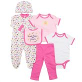 Baby Gear Baby Girl 6-piece Sleeper Set