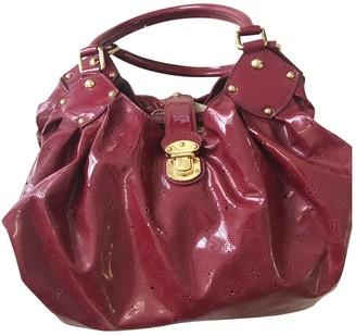 Louis Vuitton Burgundy Patent leather Handbags