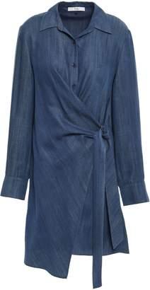 Tibi Denim Mini Wrap Dress