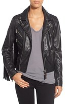 Rudsak Women's Fringe Lambskin Leather Moto Jacket