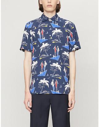 Ralph Lauren Purple Label Speedboat graphic-print woven shirt