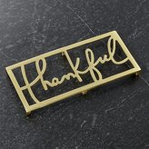 Crate & Barrel Thankful Trivet