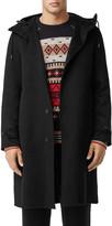 Burberry Men's Hooded Cashmere Overcoat