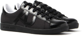 Armani Jeans Cupsole Black Mesh Trainers