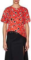 Proenza Schouler Women's Tie-Back Floral Cotton T-Shirt