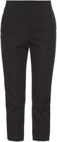 Balenciaga Back-belt wool cropped trousers