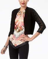 Thalia Sodi Lace-Trimmed Bolero Cardigan, Created for Macy's