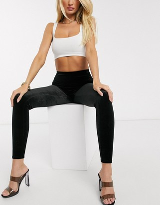 Spanx velvet high waisted sculpting leggings in black