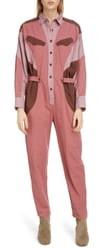 Etoile Isabel Marant Guan Colorblock Cotton Jumpsuit