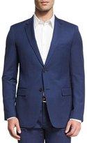 Theory Wellar Camley Slim Wool Suit Jacket, Blue