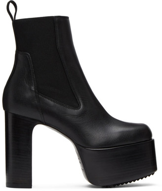 Rick Owens Black Kiss 65 Ankle Boots