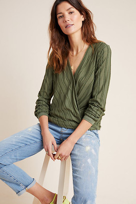Maeve Audre Textured Top By in Green Size XS