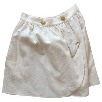 Berangere Claire Claire Ecru Cotton Skirt for Women